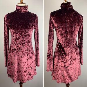 Urban Outfitters KimchiBlue Velvet Mini Dress Rose